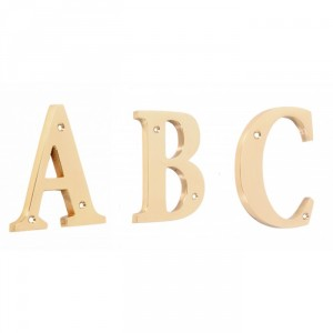 """""""Rivenelle Alphabets"""" 4 inch polished brass letters, available in A-C"""