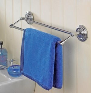 Matrix Chrome Double Towel Rail