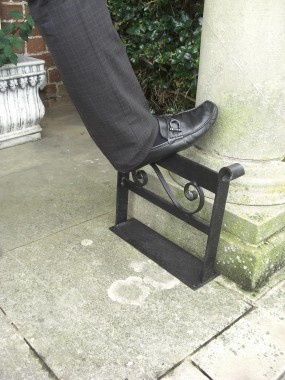 Wrought Iron Garden boot scraper