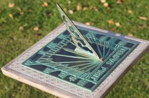 Verdigris Square Shape Tempus Fugit Sundial