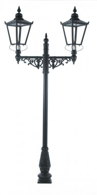 Dual Headed High Mast Column and Lantern Set