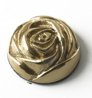 brass rose motif