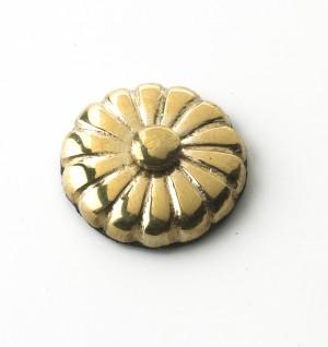 24MM Solid Brass Sunflower Motif