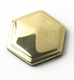 solid polished brass hexagonal motif