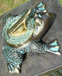 Verdigris Frog Shape Sundial