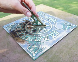 """""""Four Seasons"""" Sundial Finished in a Verdigris Finish"""