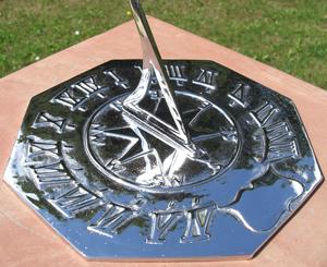 "Chrome Navigator Sundial 260mm (10¼"") Dia"