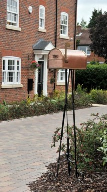 Wrought Iron Post Box Stand