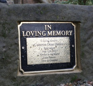 Polished Brass In Loving Memory Building Plaque