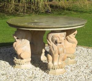 Lion Stone Table