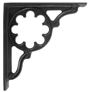 """Florala"" Iron Shelf Brackets 35 x 30cm"