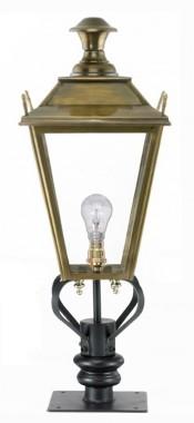 Brass Dorchester Pillar Light and Lantern Set 90cm