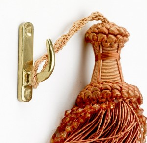 'Clivedale' Curtain tie back hooks