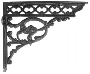 Serpent Iron Shelf Brackets 29 x 33cm