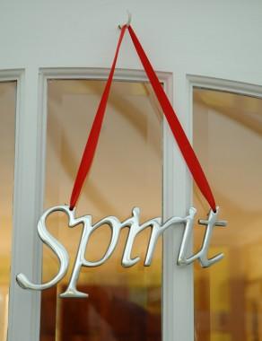 """Spirit"" Christmas Hanging Sign"