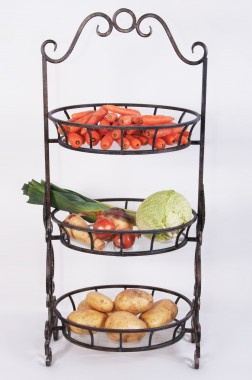 """""""Aunt Wilamina""""  Wrought Iron vegetable or fruit stand"""