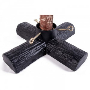 Black Log Design Christmas Tree Holder