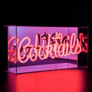 """""""Cocktails"""" Neon Light in an Acrylic Box"""