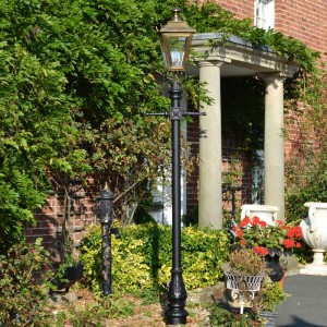 Antique Brass Dorchester Lamp Post & Lantern Set 2.7m