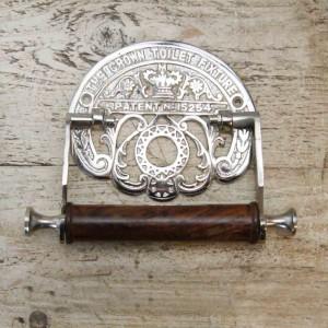 Antique Chrome 'Crown' Toilet Roll Holder