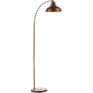 Antique Copper Contemporary Floor Lamp