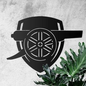 """Arsenal Cannon"" Wall Art in situ"