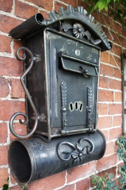 """Aubrey End"" Gothic Post Box And Newspaper Holder"