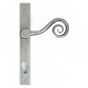 """Barbary"" Slim Monkey tail Espagnolette Lock Set Finished In An Antique Pewter"