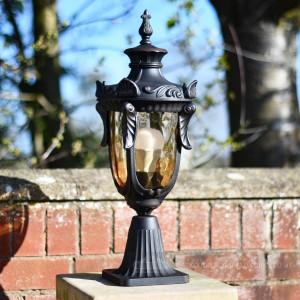 Beautiful Ornate Garden Pillar lantern