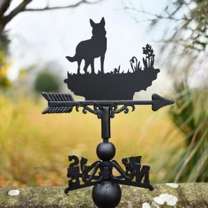 Beautiful German Shepherd Weathervane in garden