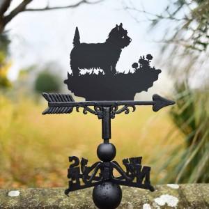 West Highland Terrier Weathervane in garden