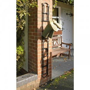 """Rotherfield"" Black 4 Pair Wall Mounted Boot Rack"