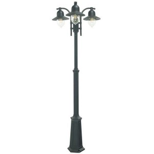 Black Coach House Triple Head Lamp Post