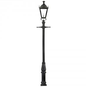 Black Dorchester Extra Large Lantern & Lamp Post Set