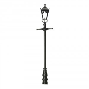 Black Gothic Lamp Post & Lantern Set 2.7m