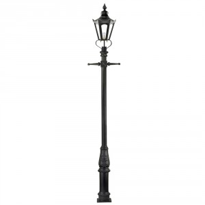 Black  Concordia Hexagonal Extra Large Lantern & Lamp Post Set