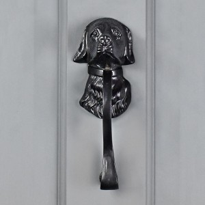Black Dog Door Knocker