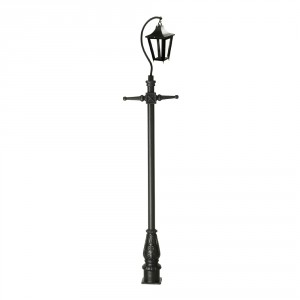 Black Lincoln Swan Neck & Lamp Post 2.9m
