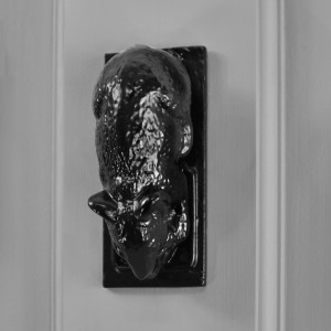 Black Brass Dormouse Door Knocker