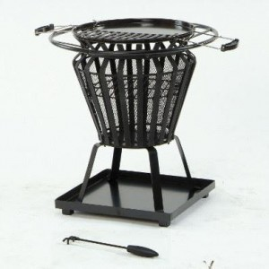 Traditional Fire Basket & Grill in Black