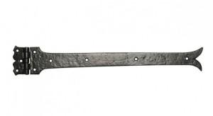 Black Traditional Iron Door Hinges