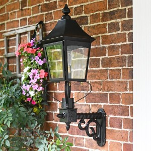 Black Traditional Victorian Porch Wall Light