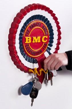 """""""BMC"""" rosette aluminium hook and key rack"""