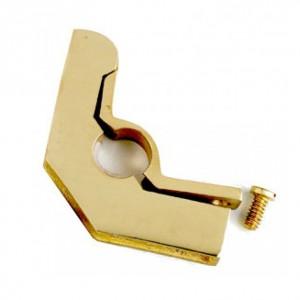 "Brass Hinged Bracket with Flat Head Screw - 3/8"""