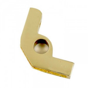 Brass Un-Hinged Bracket With Flat Head Screw - 19mm