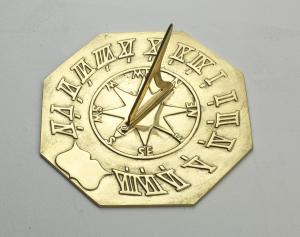 "Brass Navigator Sundial 260mm (10¼"") Dia"