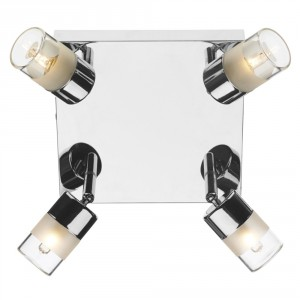 Bright Chrome Adjustable Bathroom Spot Lights