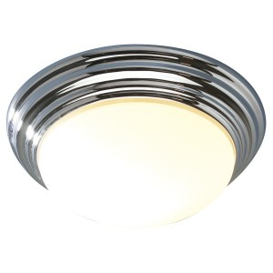 Bright Chrome Domed Bathroom Light
