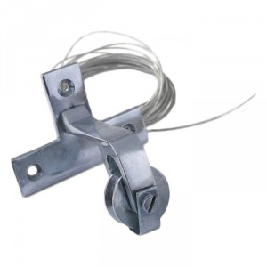 Horizontal Bright Chrome Bell Pull Pulley