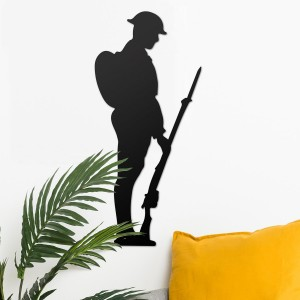 British Soldier Wall Art in Situ in the Sitting Room